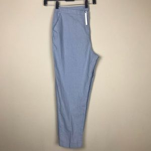 NWT ASOS SKY Blue Linen Blend Cropped Pant